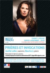 Affiche PRIÈRES ET INVOCATIONS Samedi 4 novembre